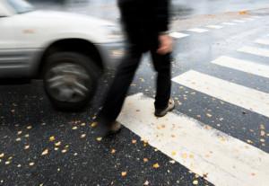 Dangerous Pedestrian Street Crossing