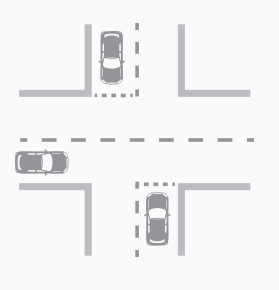 Driving through an intersection