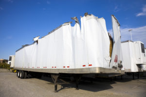 damaged truck trailer