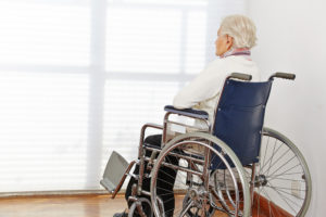 senior citizen in a wheelchair