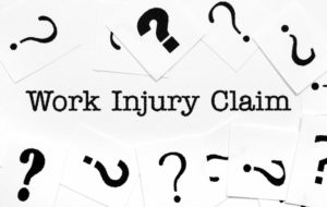 Work injury claim and question marks